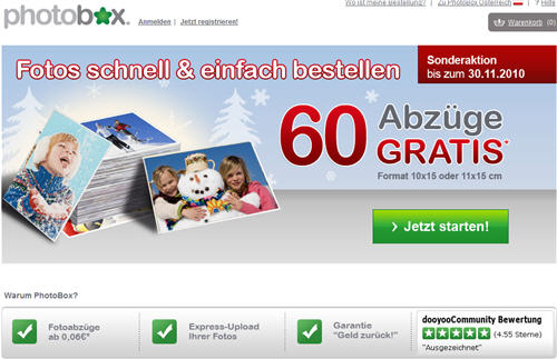 60 photobox fotos gratis