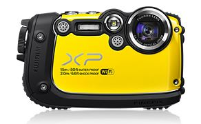 Fujifilm FinePix XP200, kamera, gelb, outdoor